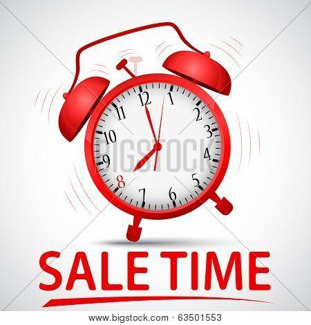 sale promotion with alarm clock