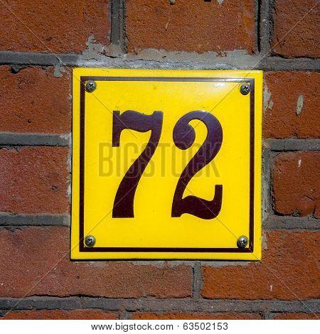 Number 72