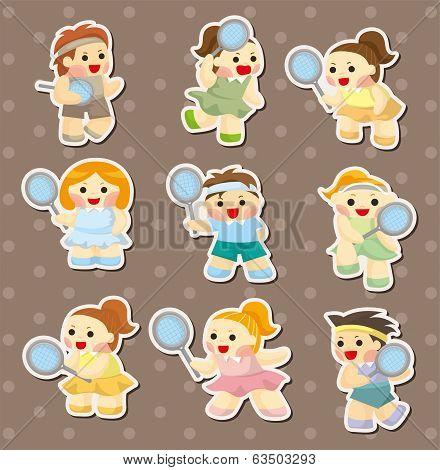 Tennis Player Stickers