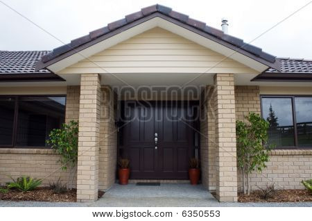 Modern House Front Entrance