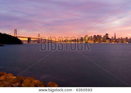 San Francisco after sunset