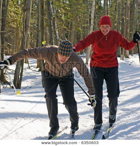 Unfug auf Skiern