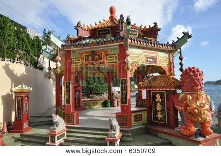 China hexágono pabellón estilo