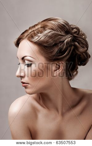 half face portrait woman