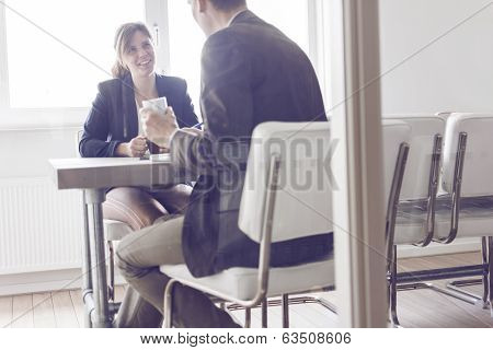 Business meeting or job interview