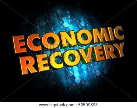Economic Recovery Concept on Digital Background.