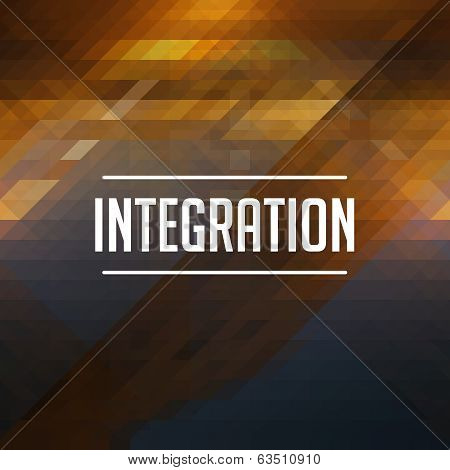 Integration Concept on Retro Triangle Background.