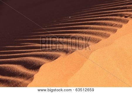 Sand Texture Detail Of Dune 45 In Namib Desert, Sossusvlei