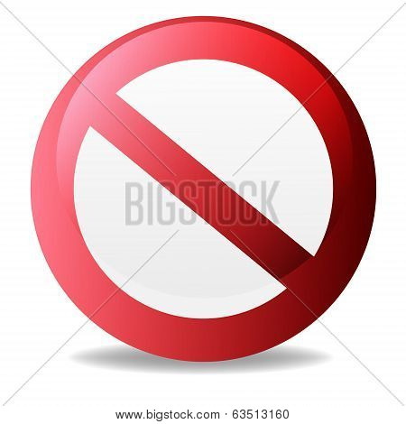 No Sign, No symbol, Not Allowed isolated on white background