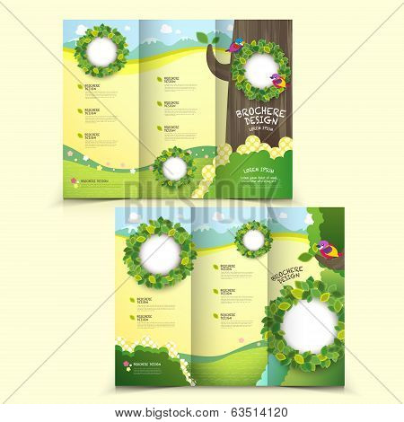 template of brochure design