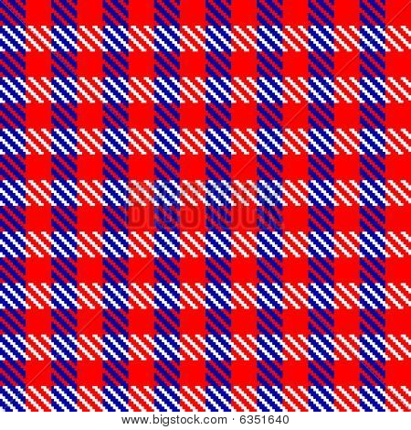 Red check fabric