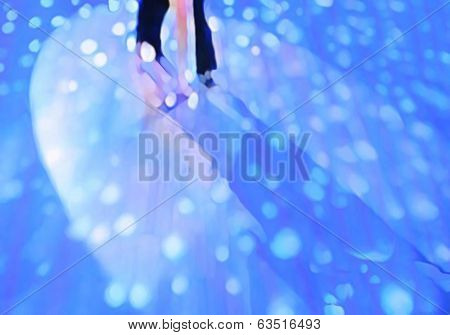 Ballroom dance floor abstract five digital painting