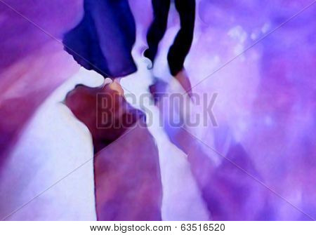 Ballroom dance floor abstract ten digital painting