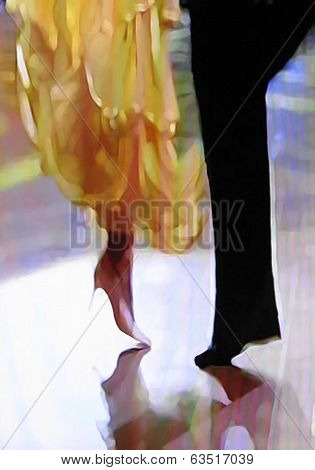 Ballroom dance floor abstract twenty-one digital painting