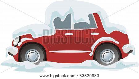 Car In Snow.