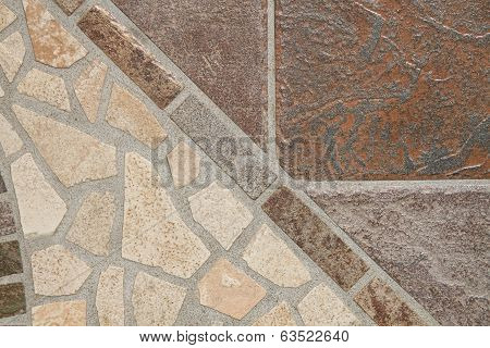 Mosaic of floor tiles