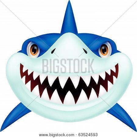 Shark head cartoon
