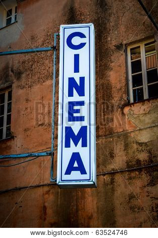 Cinema Sign In Italy