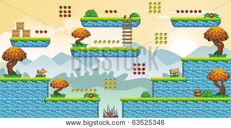 2D Tileset Platform Game 50.eps