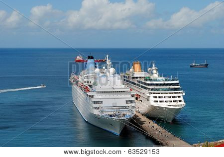 Thomson Dream and Adonia Cruise ships