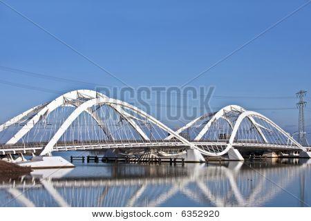 IJ bridge in Amsterdam the Netherlands
