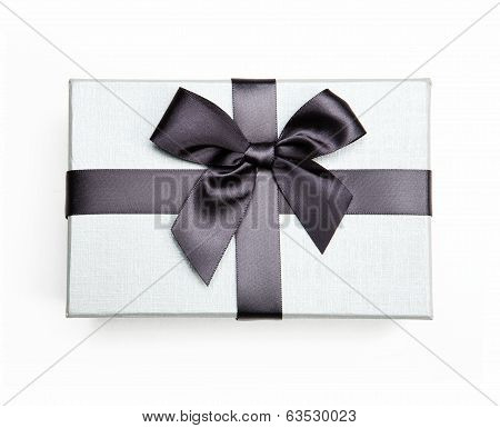 White box with a bow