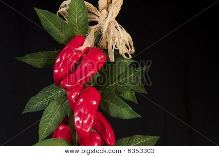 Hanging Red Peppers