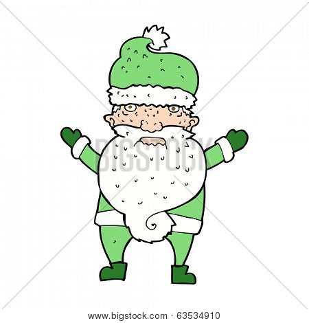 cartoon grumpy santa