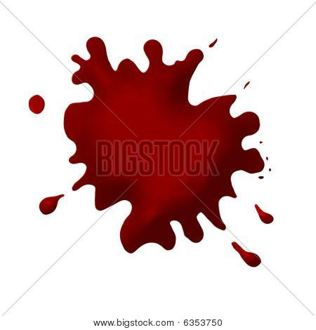 Thick blood splat