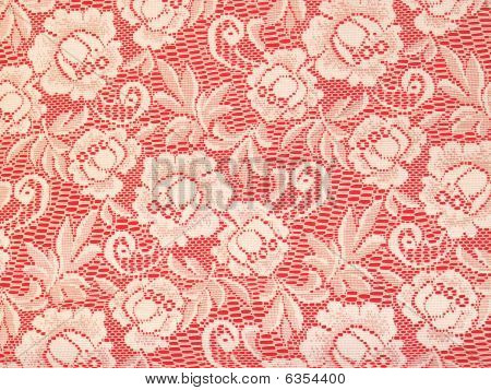 Red lace background