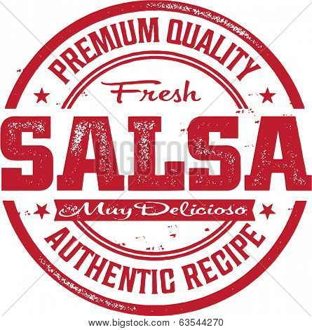 Premium Fresh Mexican Salsa Stamp