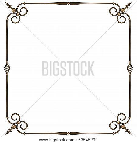 wrought-iron frame