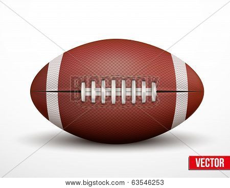 American Football ball isolated on a white background