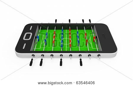Foosball Table in Mobile Phone