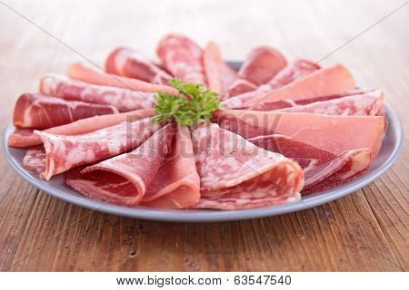 plate of delicatessen