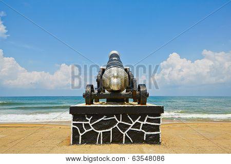 Cannon On The Seaside Promenade