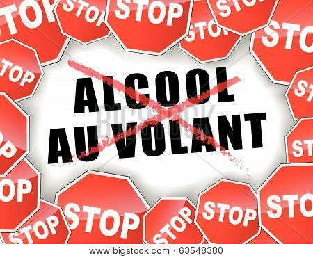 Stop Drunk Driving French Illustration