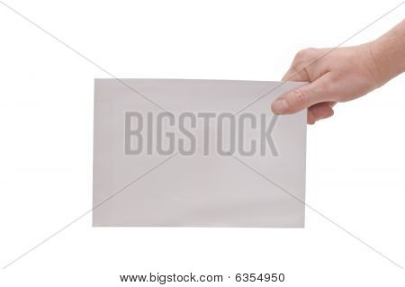 Hand & Large Envelope
