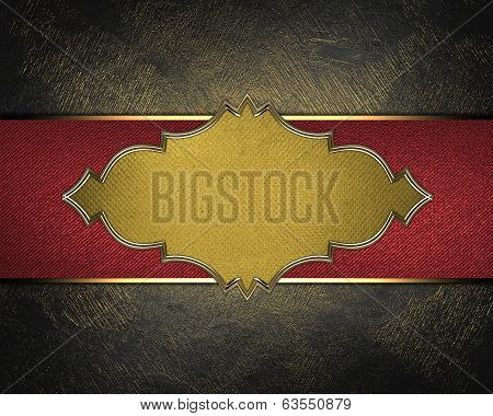 Black Background With Gold Scuffed. Design Template