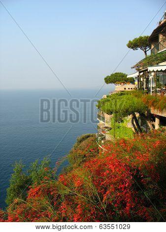 Areal view from famous Il San Pietro di Positano hotel