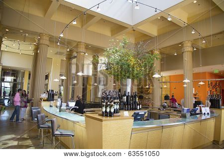 Tasting room at Darioush Winery in Napa Valley