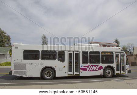 Vine bus in Yountville, Napa Valley