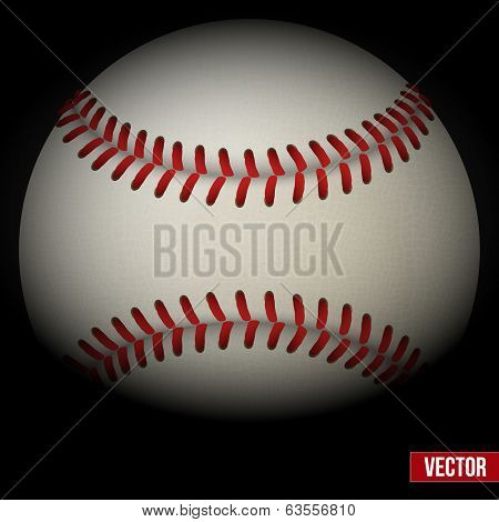 Background of baseball leather ball. Various sides. Vector.