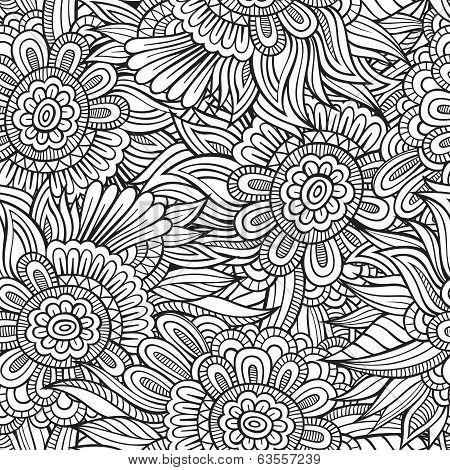 decorative nature seamless pattern