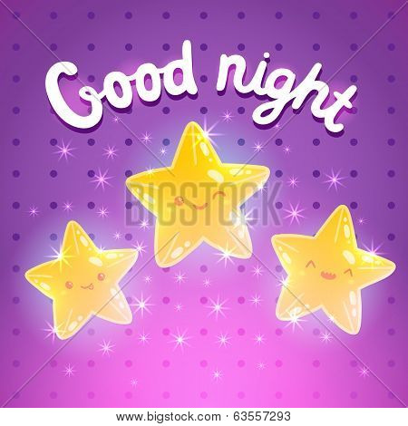 Star background. Good night vector illustration