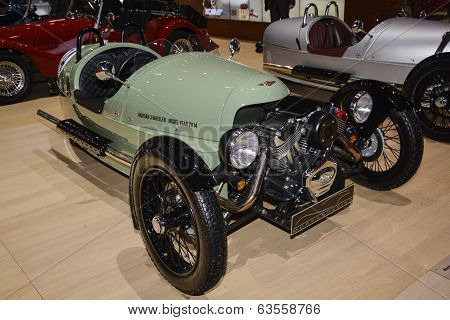 Morgan Three Wheeler At The Geneva Motor Show