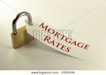 Mortgage Rates Locked Down Concept