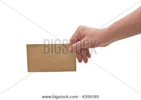 Hand & Small Envelope