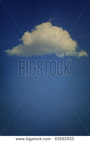 Blue Sky With White Cloud. Beautiful Cloudscape Overlay. Wether Photos Collection.