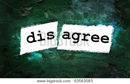 Disagree And Agree Written On Piece Of Paper